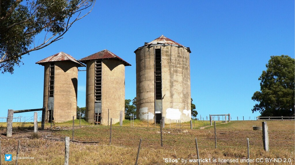 """22 """"Silos"""" by warrick1 is licensed under CC BY-..."""
