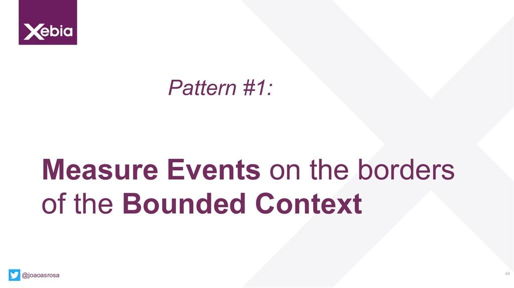 44 @joaoasrosa Pattern #1: Measure Events on th...