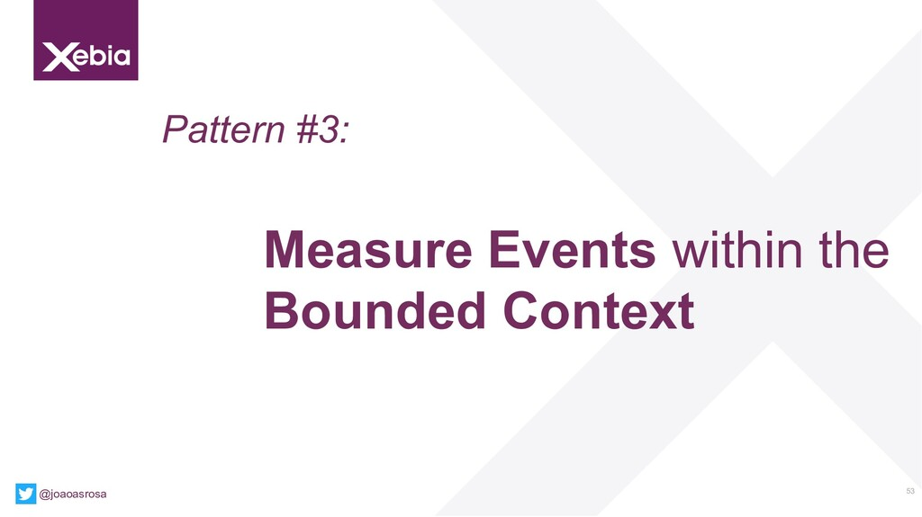 53 @joaoasrosa Pattern #3: Measure Events withi...