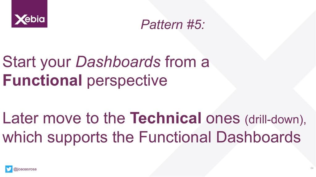 64 @joaoasrosa Pattern #5: Start your Dashboard...