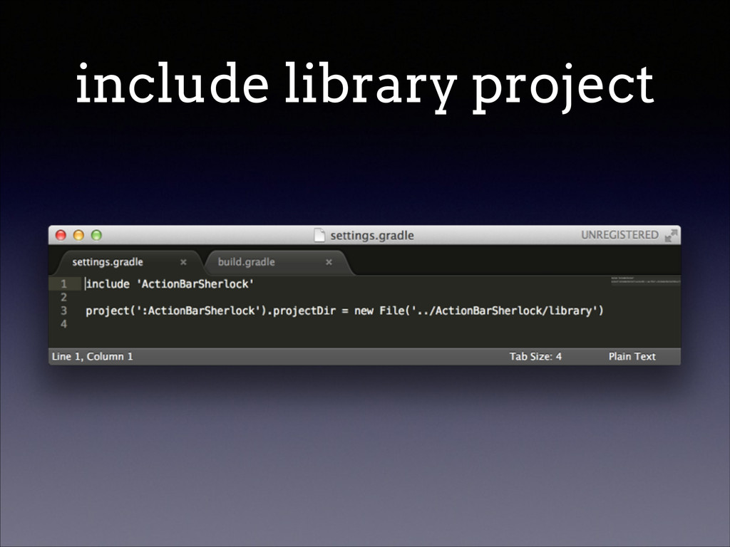 include library project