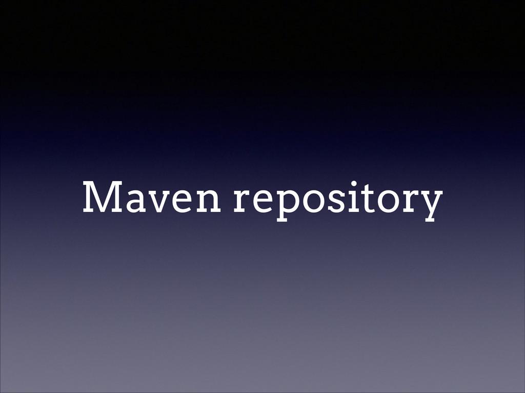 Maven repository