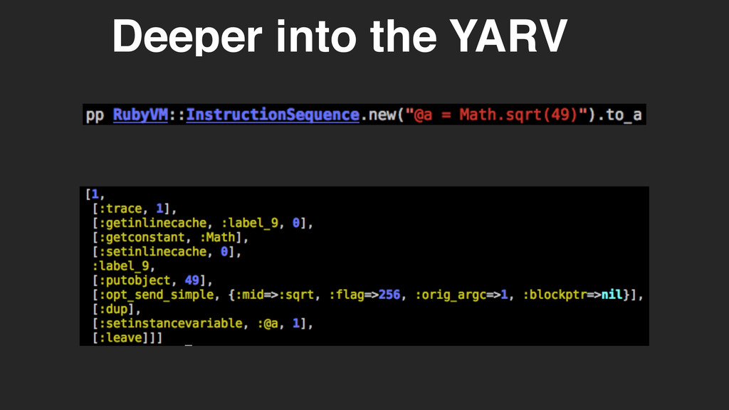 Deeper into the YARV