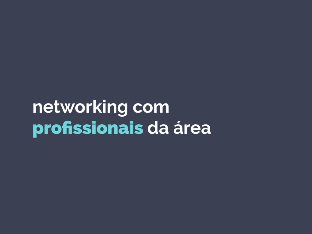 networking com profissionais da área