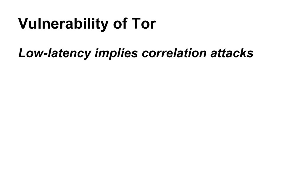 Low-latency implies correlation attacks Vulnera...