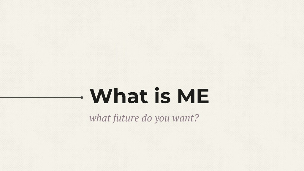 what future do you want?