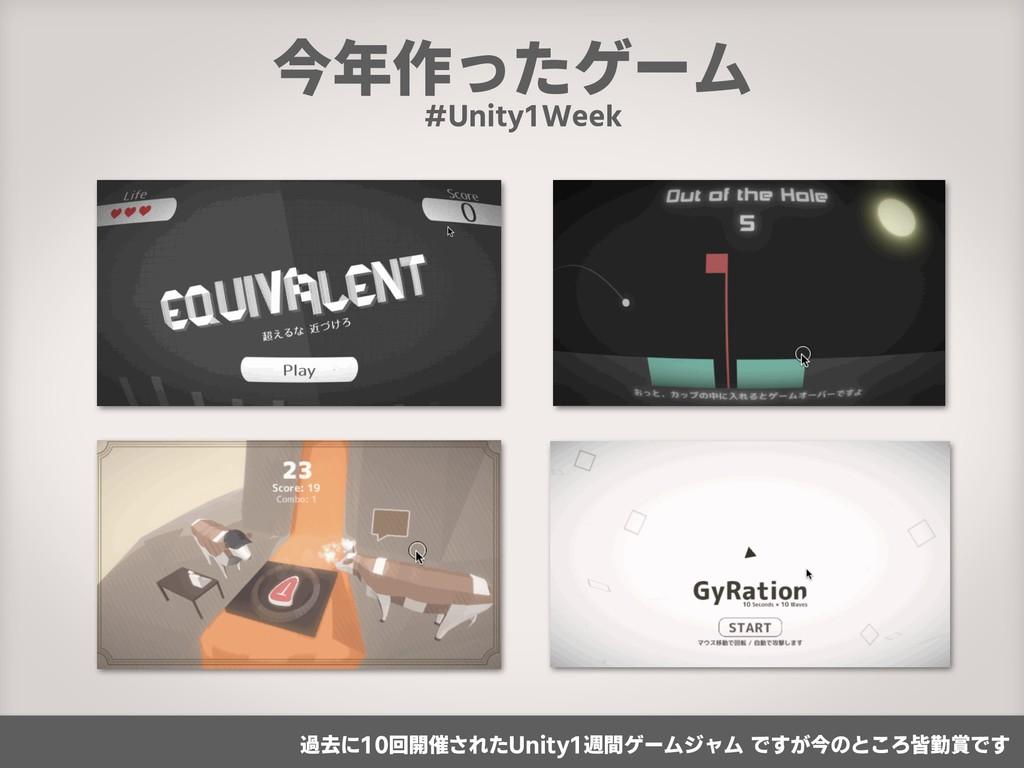 今年作ったゲーム #Unity1Week 過去に10回開催されたUnity1週間ゲームジャム ...