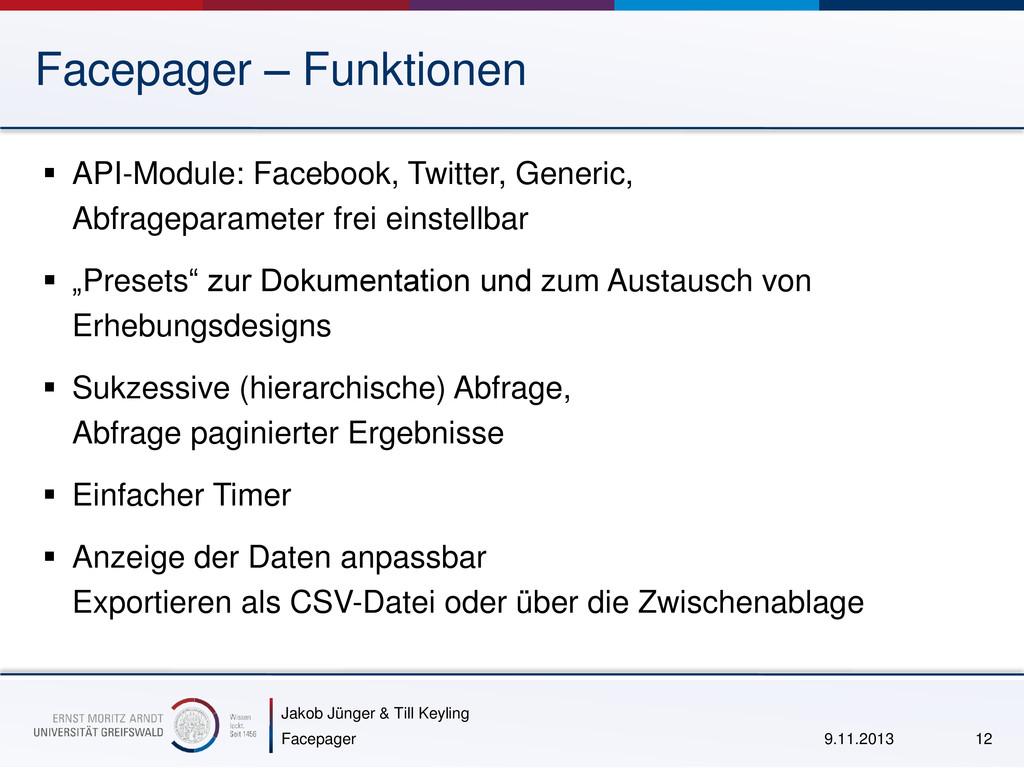 Jakob Jünger & Till Keyling Facepager – Funktio...