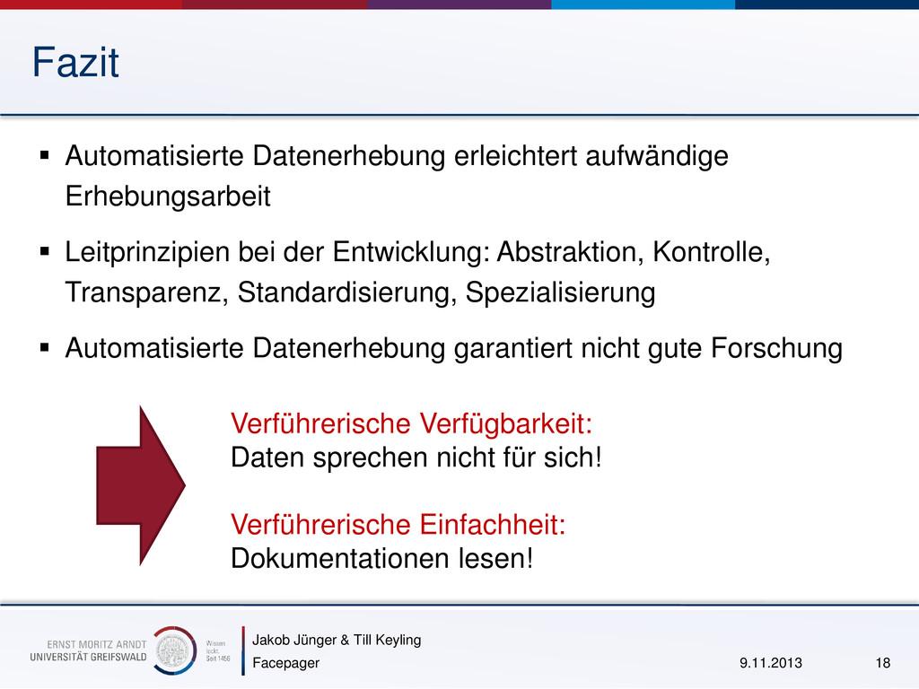Jakob Jünger & Till Keyling Fazit  Automatisie...