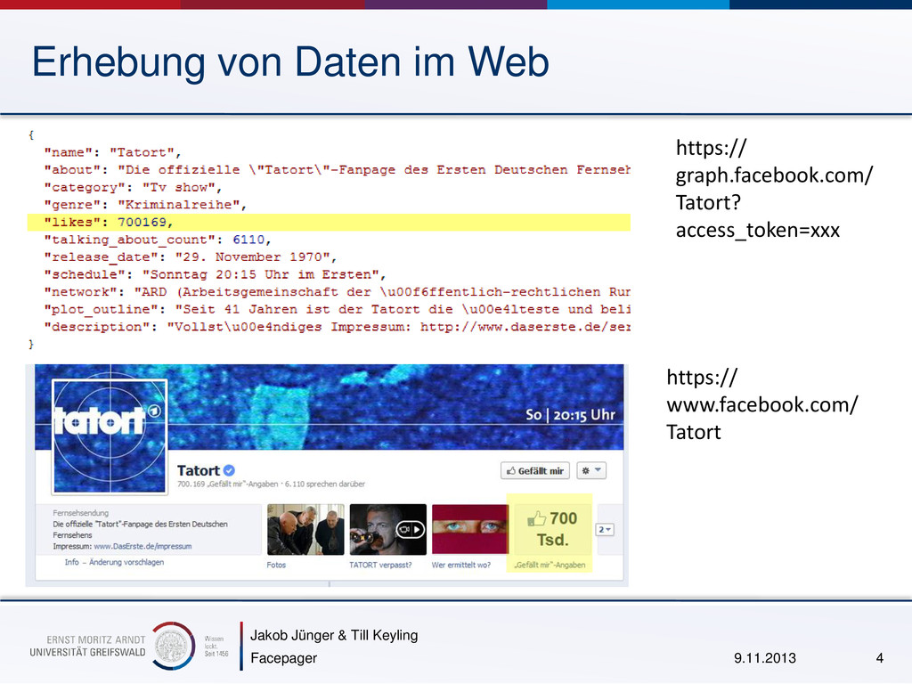 Jakob Jünger & Till Keyling Erhebung von Daten ...