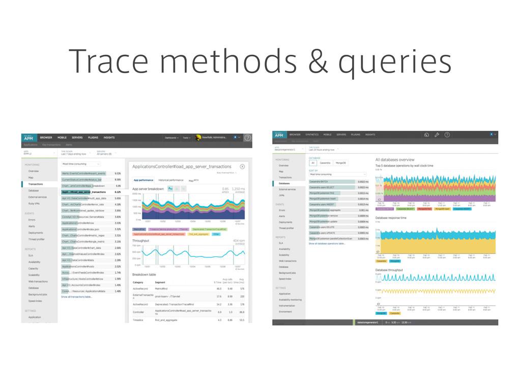 Trace methods & queries