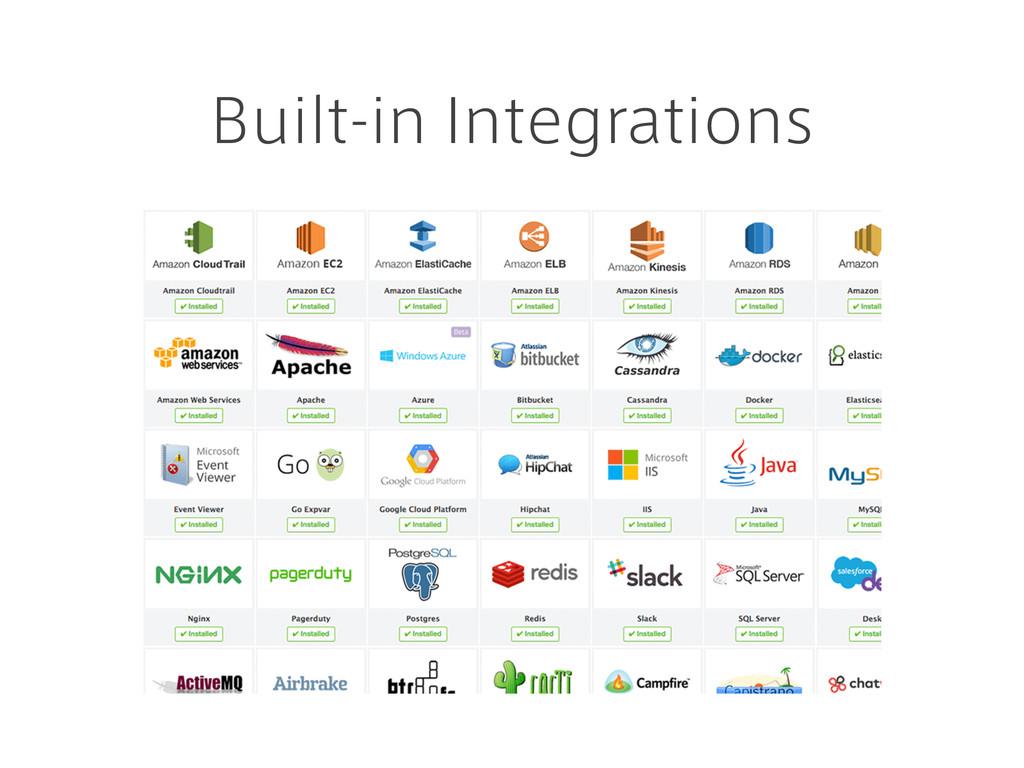 Built-in Integrations