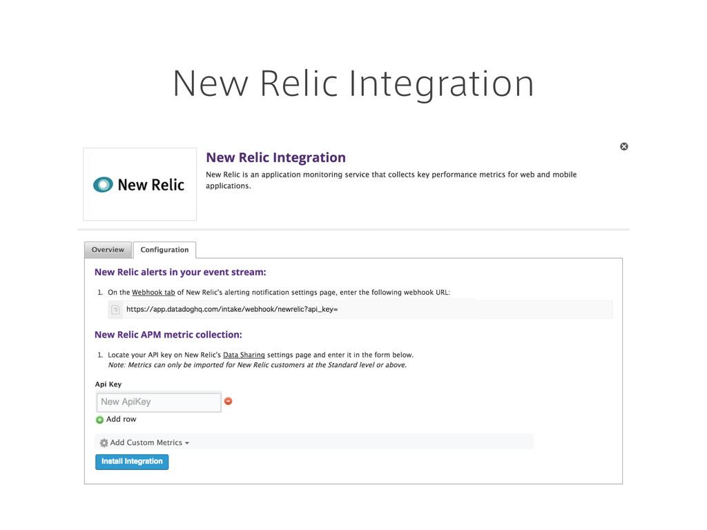 New Relic Integration