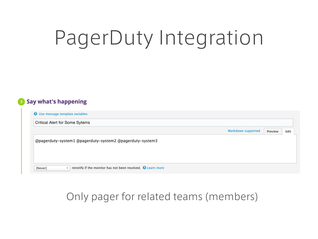 PagerDuty Integration Only pager for related te...