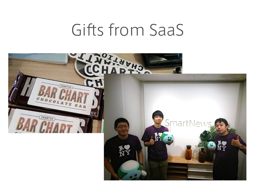 Gifts from SaaS