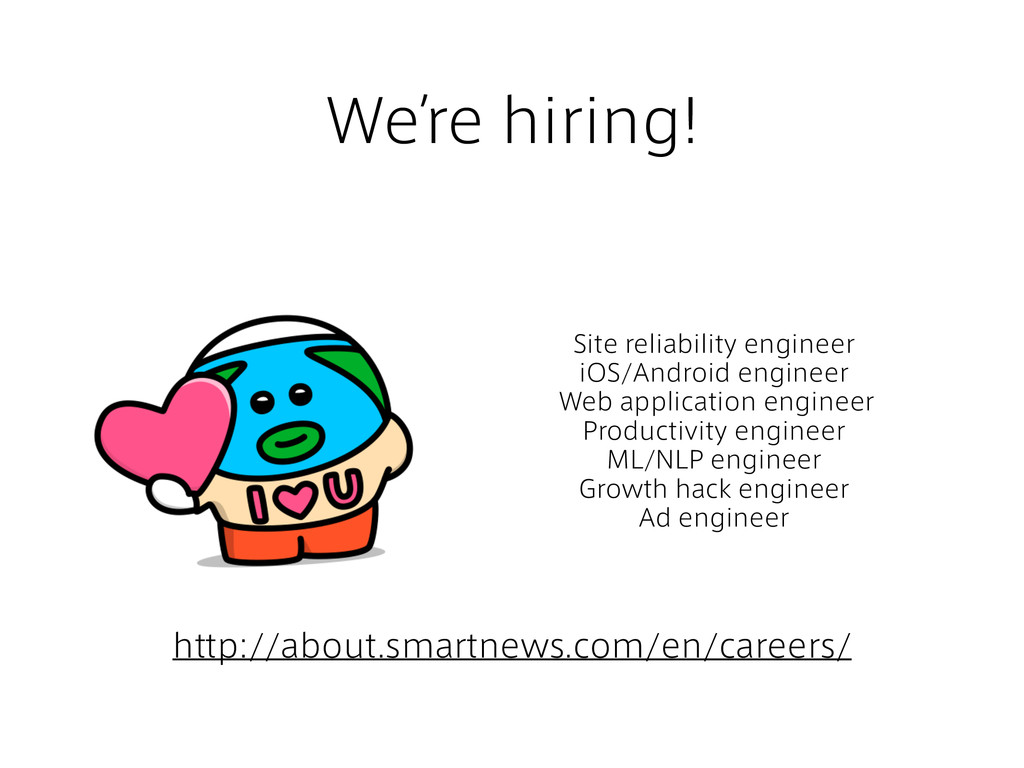 We're hiring! Site reliability engineer iOS/And...