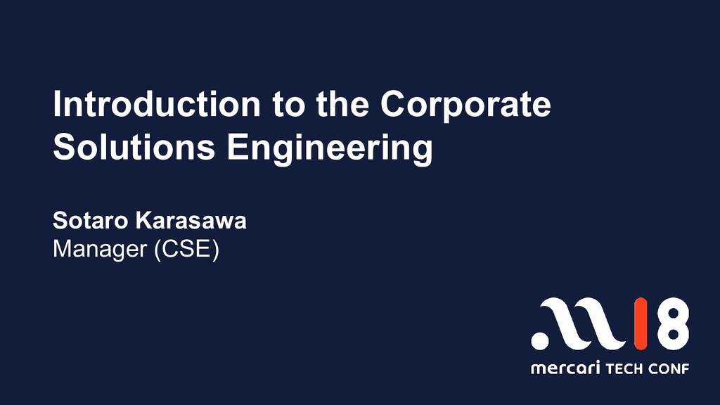 Introduction to the Corporate Solutions Enginee...