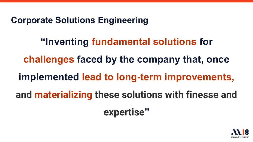 """Corporate Solutions Engineering """"Inventing fund..."""