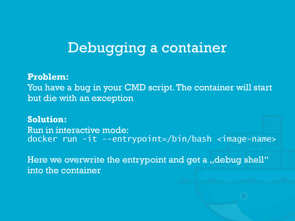Problem: You have a bug in your CMD script. The...