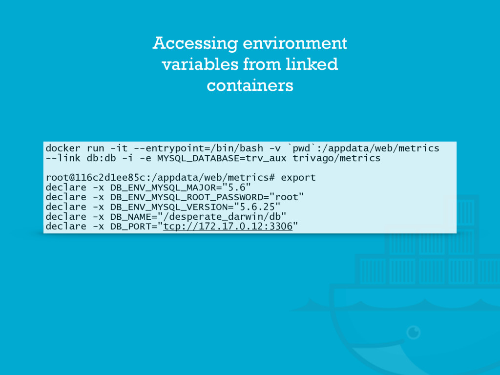 Accessing environment variables from linked con...