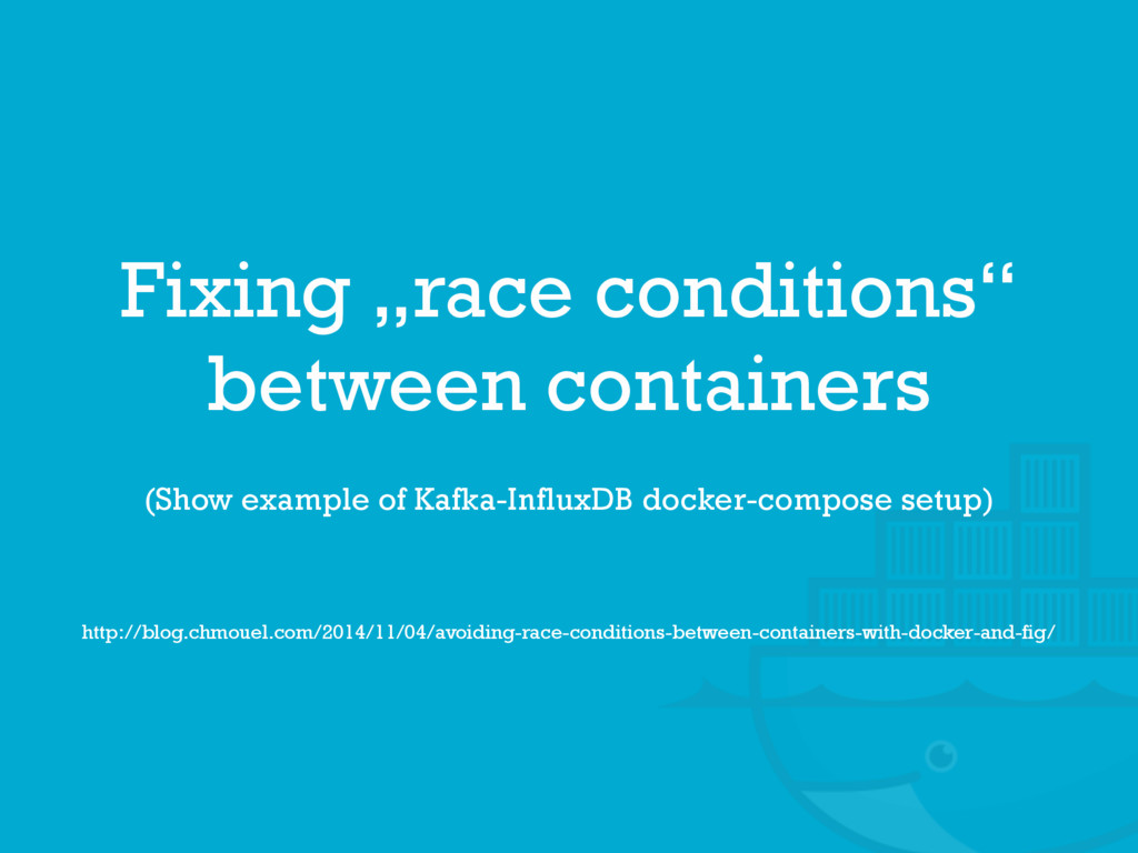 "Fixing ""race conditions""