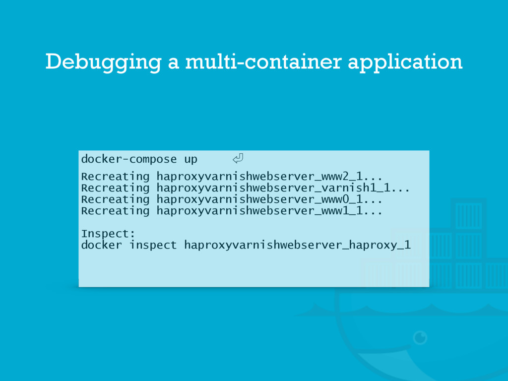 docker-compose up 㾑 Recreating haproxyvarnishwe...