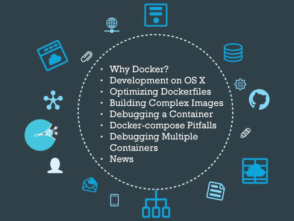 • Why Docker? • Development on OS X • Optimizin...