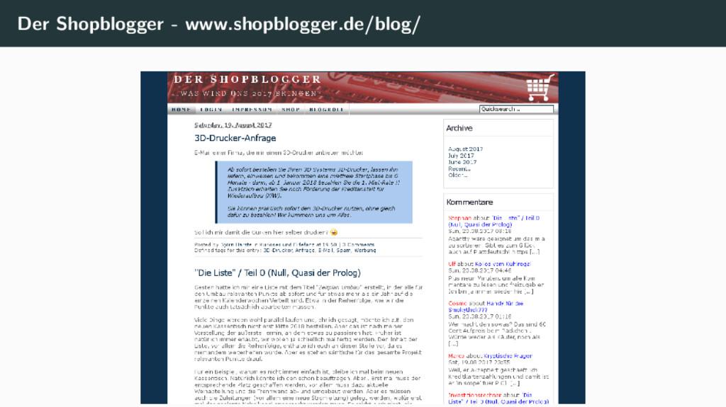 Der Shopblogger - www.shopblogger.de/blog/