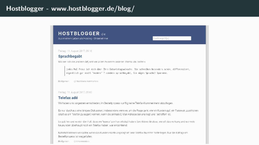 Hostblogger - www.hostblogger.de/blog/