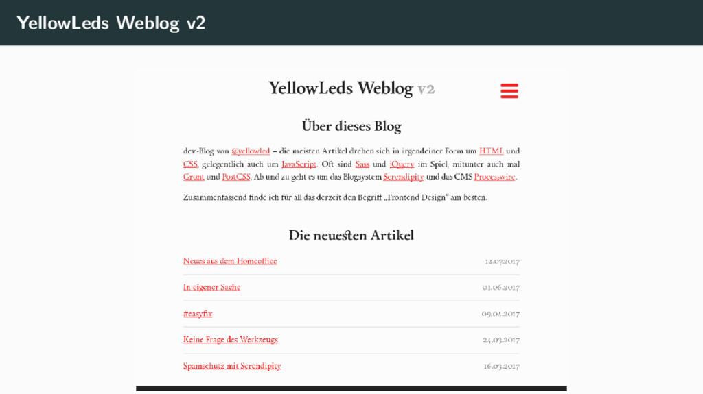 YellowLeds Weblog v2
