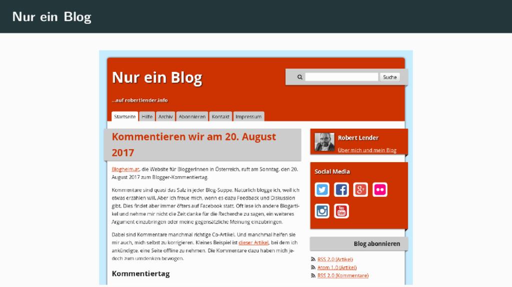 Nur ein Blog