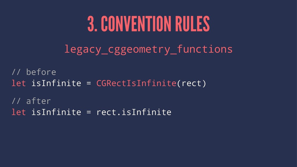 3. CONVENTION RULES legacy_cggeometry_functions...