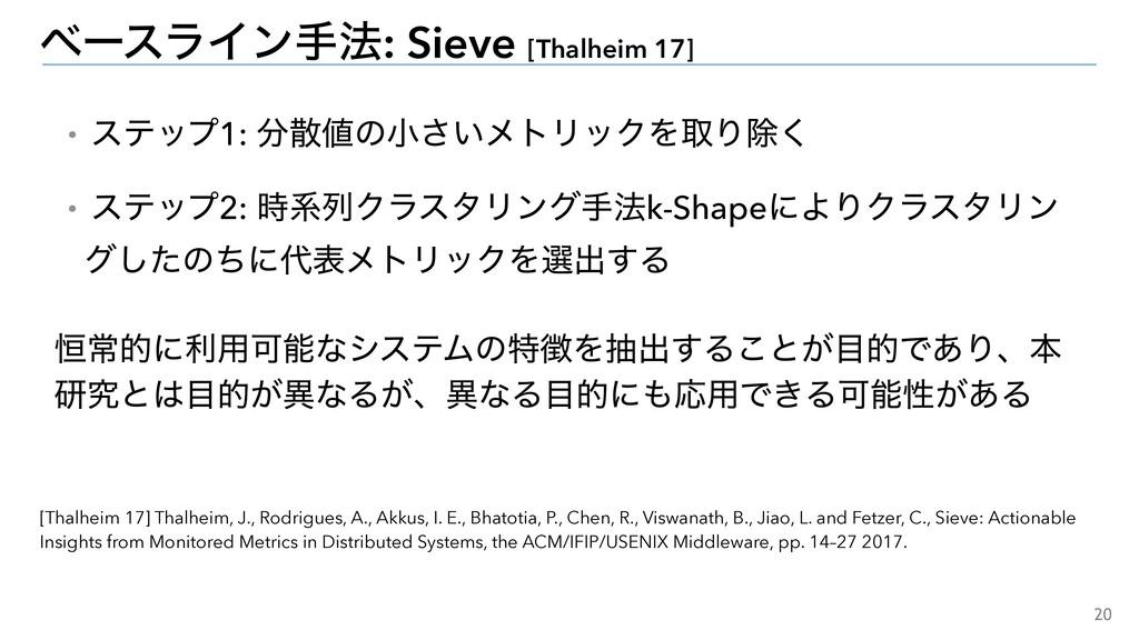 20 ϕʔεϥΠϯख๏: Sieve [Thalheim 17] ɾεςοϓ1: ͷখ͞...