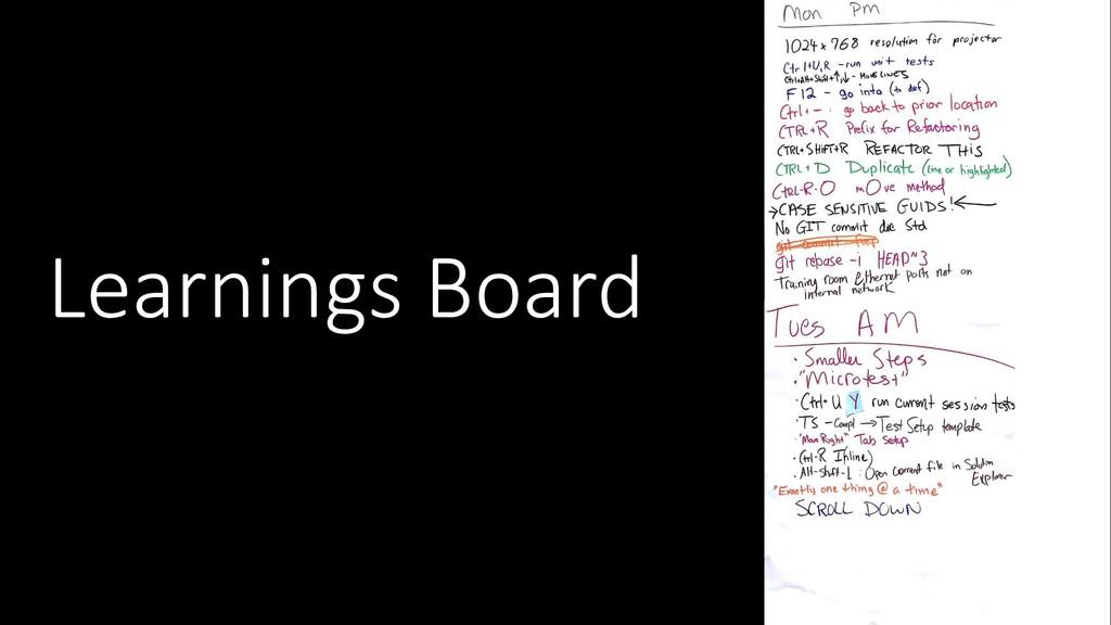 Learnings Board