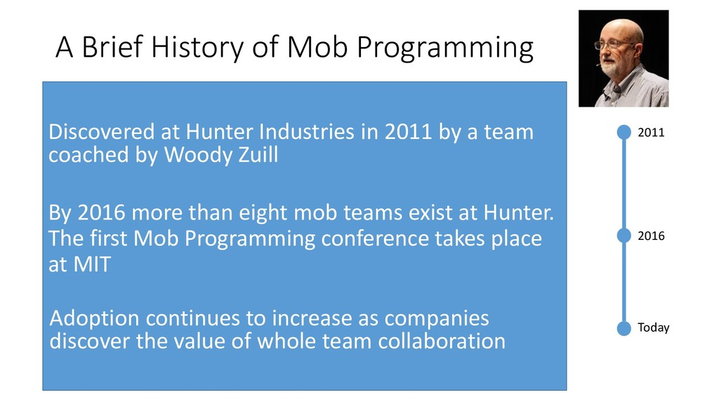 A Brief History of Mob Programming 2011 2016 To...