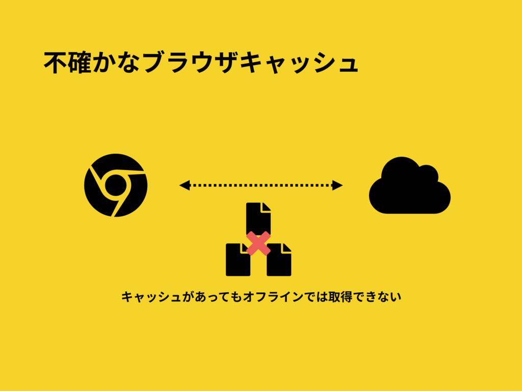 キャッシュがあってもオフラインでは取得できない 不確かなブラウザキャッシュ