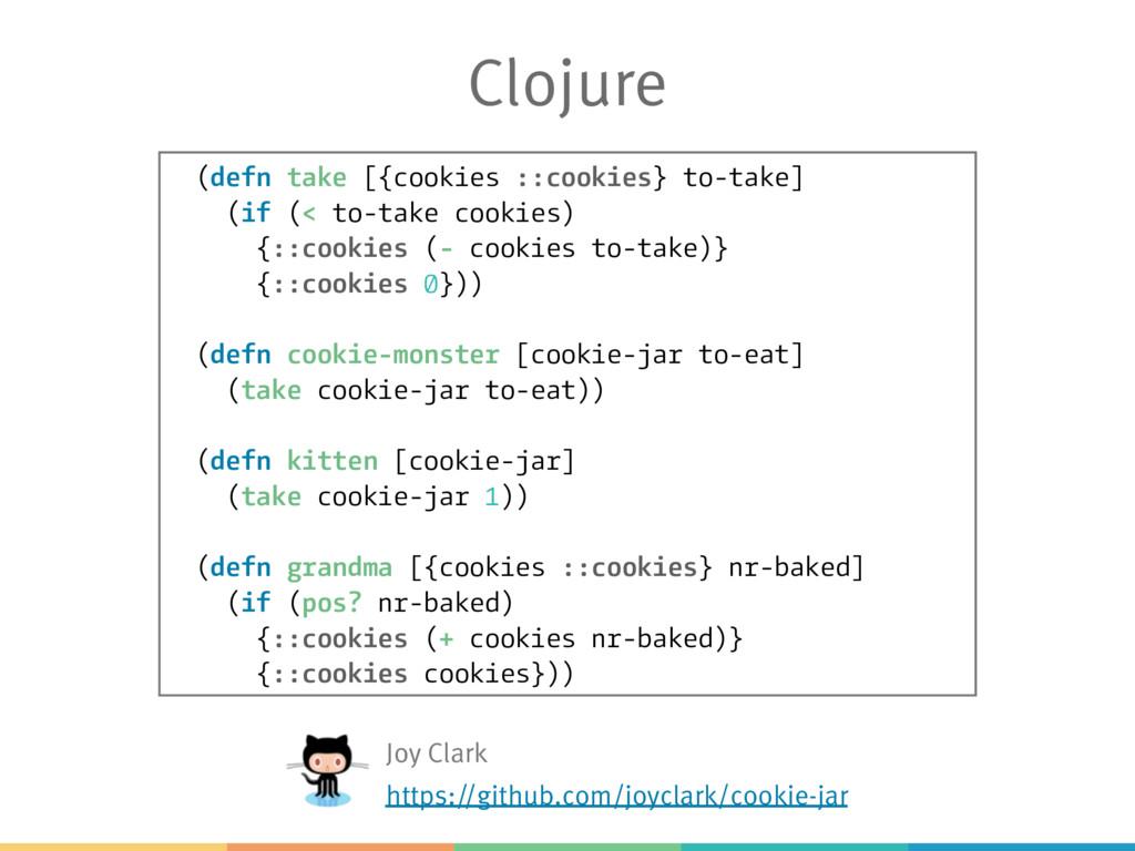 Clojure (defn take [{cookies ::cookies} to-take...