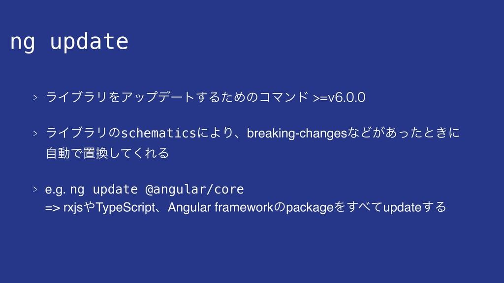 ng update ϥΠϒϥϦΛΞοϓσʔτ͢ΔͨΊͷίϚϯυW ϥΠϒϥϦ...