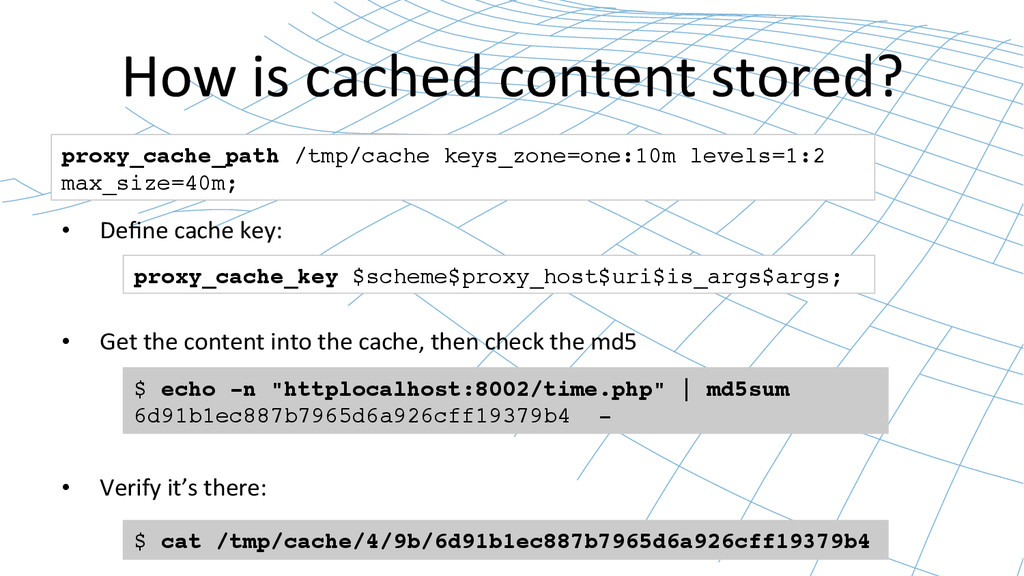 How is cached content stored?  •...
