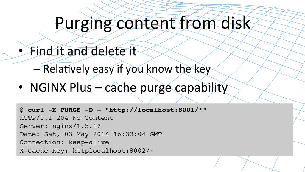 Purging content from disk  • Find...