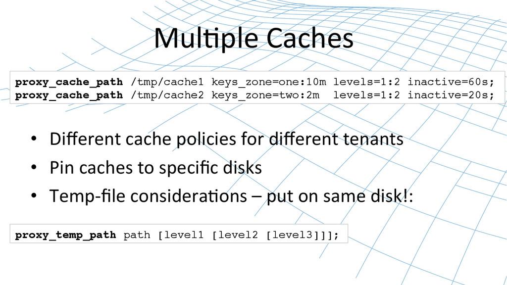 Mul0ple Caches  • Different cache p...