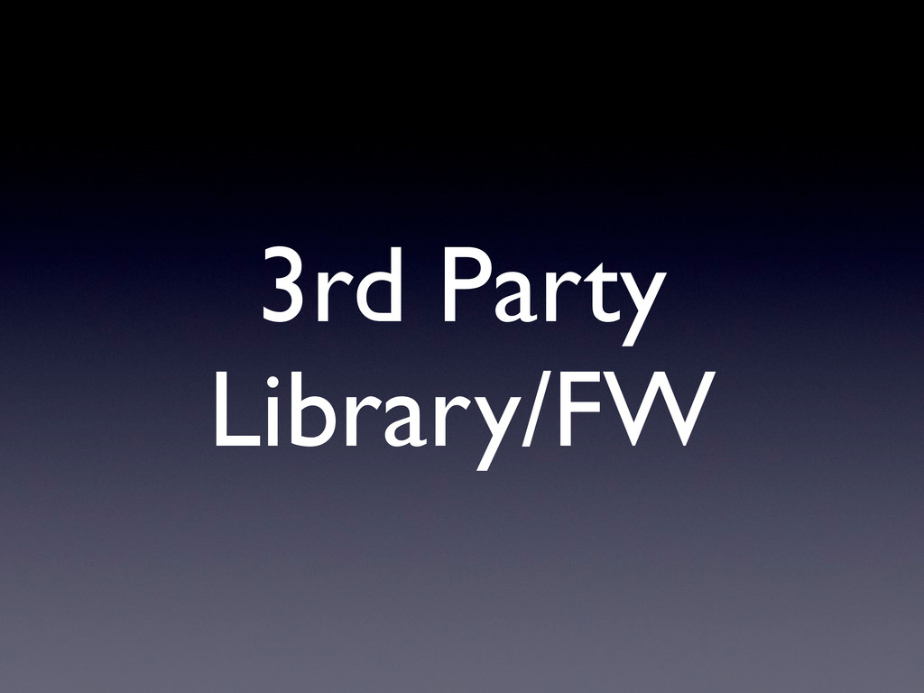 3rd Party Library/FW