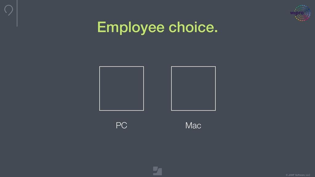 © JAMF Software, LLC Employee choice. PC Mac