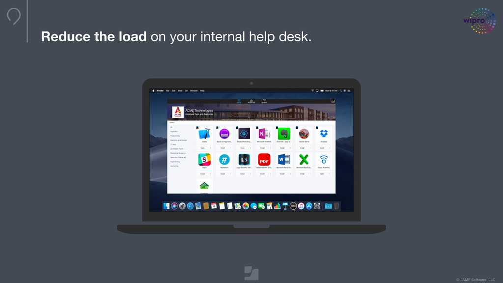 © JAMF Software, LLC Reduce the load on your in...