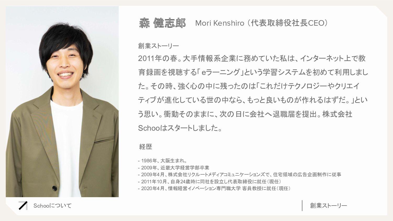 - 1986年、大阪生まれ。 - 2009年、近畿大学経営学部卒業 - 2009年4月、株...