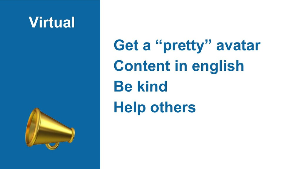 "Virtual Get a ""pretty"" avatar Content in englis..."