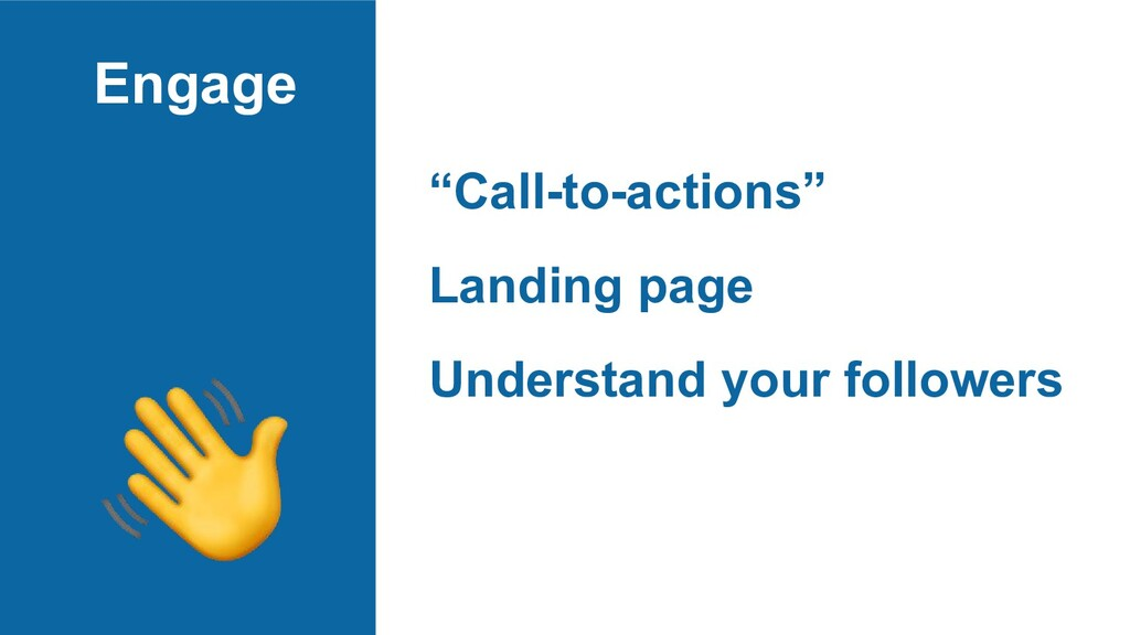 "Engage ""Call-to-actions"" Landing page Understan..."