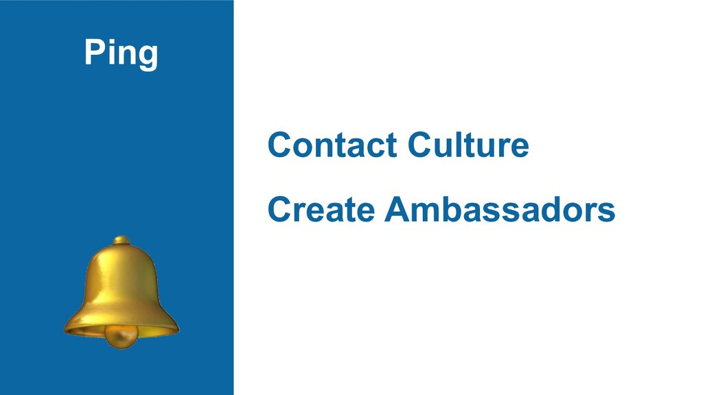 Ping Contact Culture Create Ambassadors