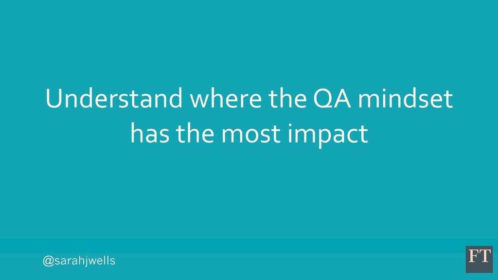 @sarahjwells Understand where the QA mindset ha...