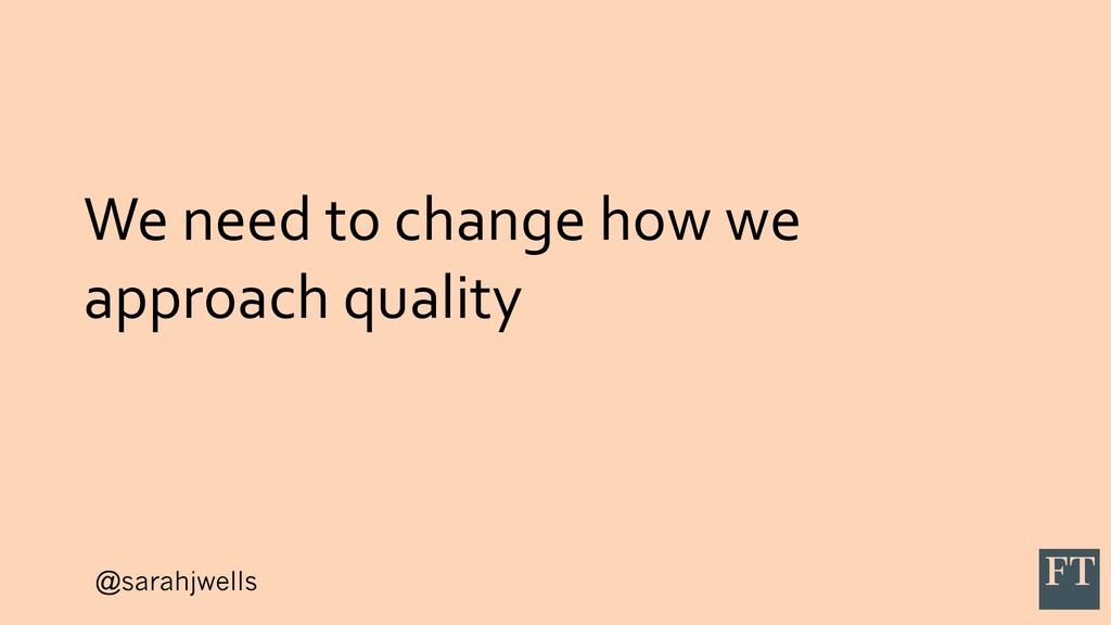 @sarahjwells We need to change how we approach ...